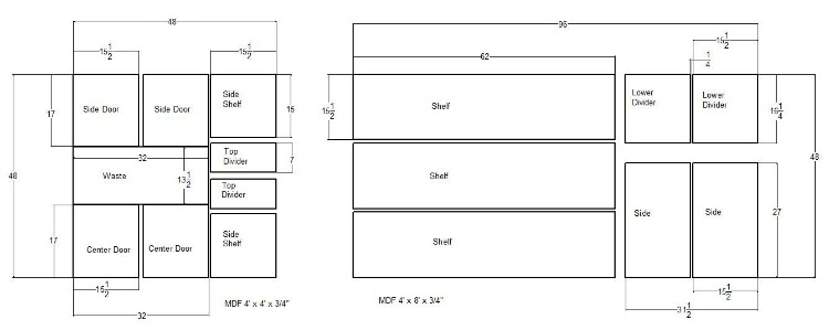 Plywood Cutting Layout