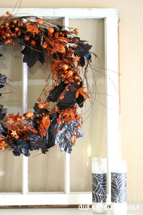 a fall wreath