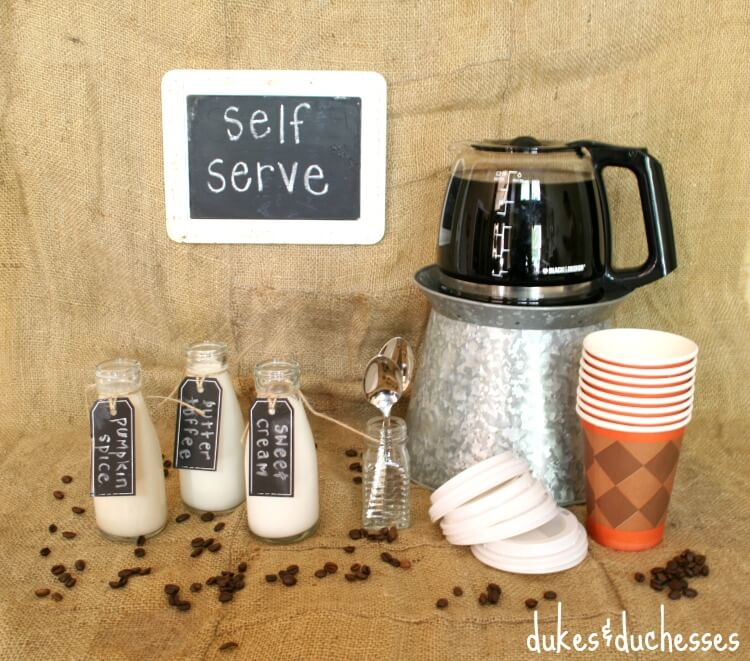 A Self Serve Coffee Bar Dukes And Duchesses