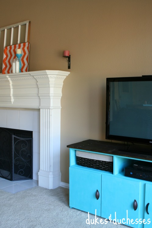 console in family room