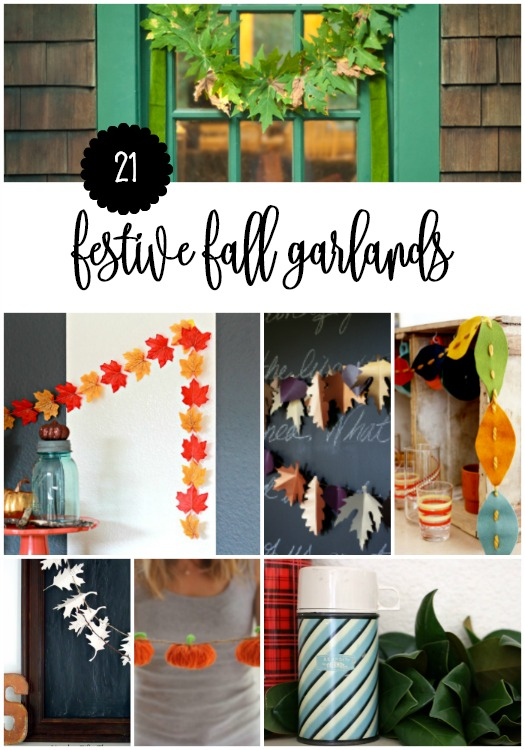 festive fall DIY garlands
