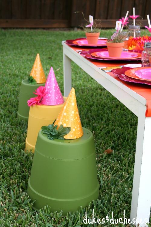 flower pot stools