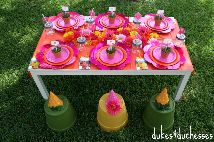 gardening party tablescape
