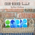 how to make a stained color-blocked basket