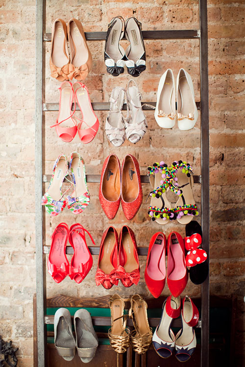 ladder shoe rack