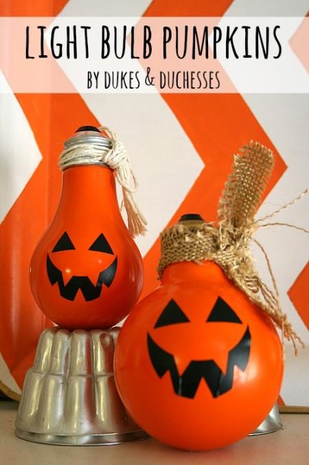 light bulb pumpkins