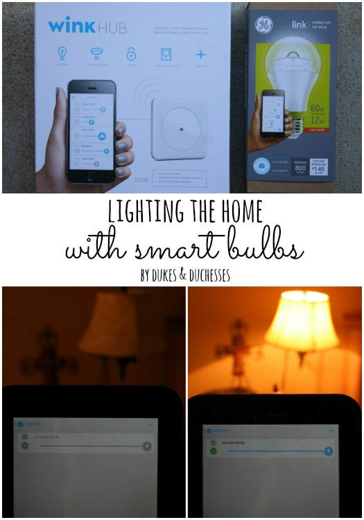 lighting the home with smart bulbs
