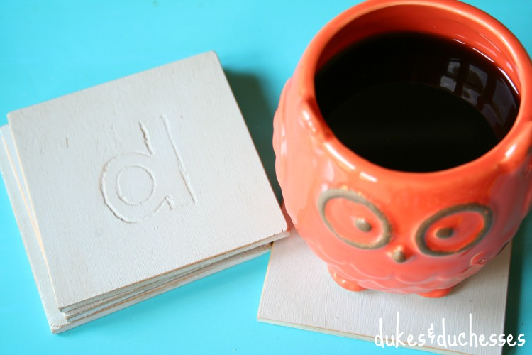 monogrammed coasters for the home