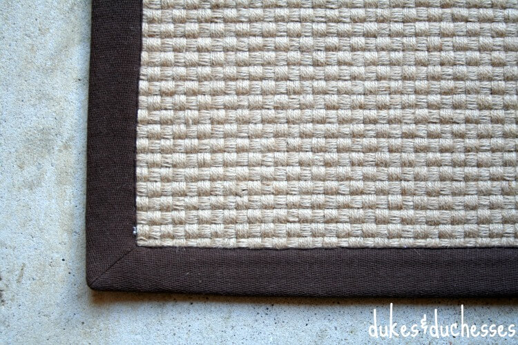 plain basketweave rug