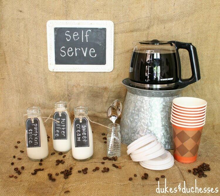 self serve coffee bar