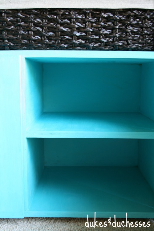 shelves in cabinets