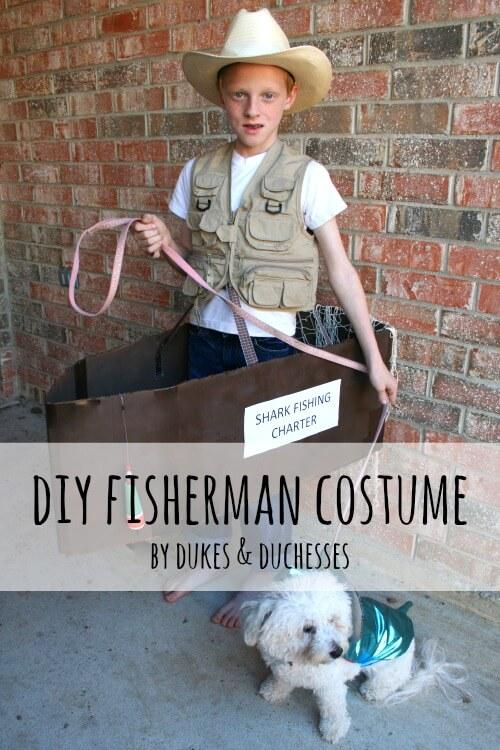 DIY fisherman costume