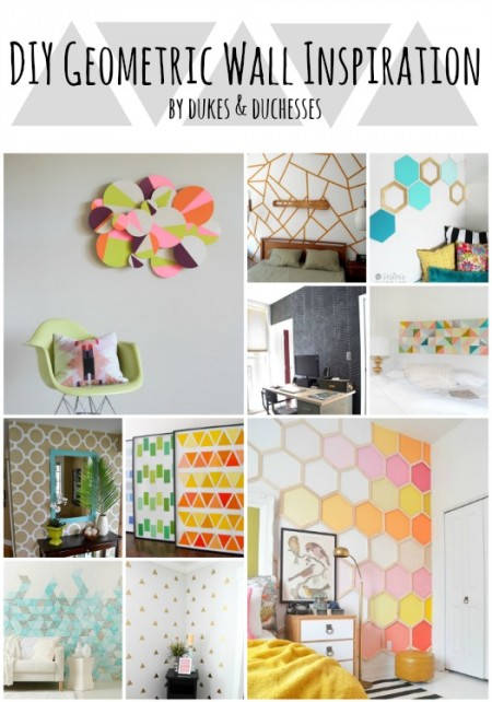 DIY geometric wall inspiration