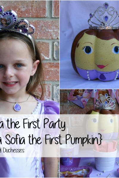 Sofia the First Pumpkin and Party