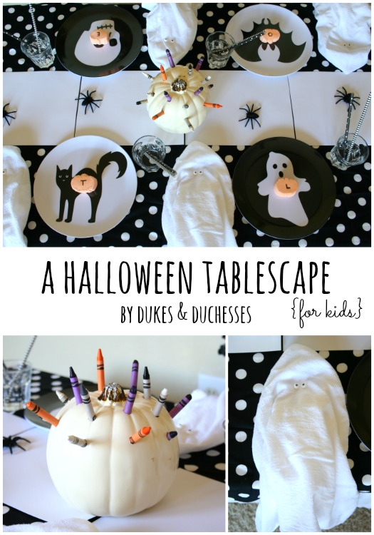 halloween party tablescape for kids