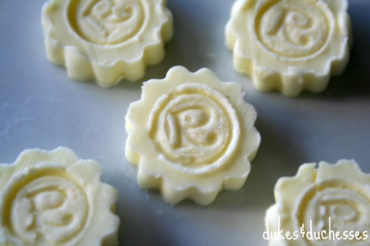 monogrammed butter pats