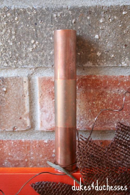 copper pipe stem for hexagon pumpkin