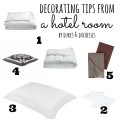 decorating tips from a hotel room