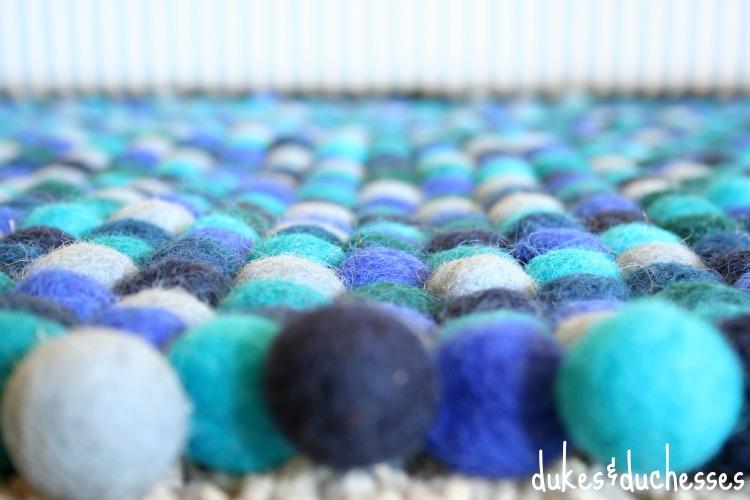handmade felt ball rug