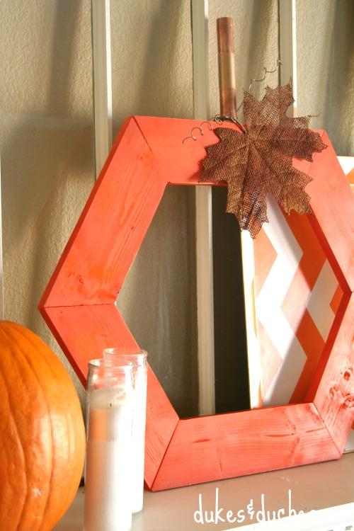 hexagon pumpkin for fall