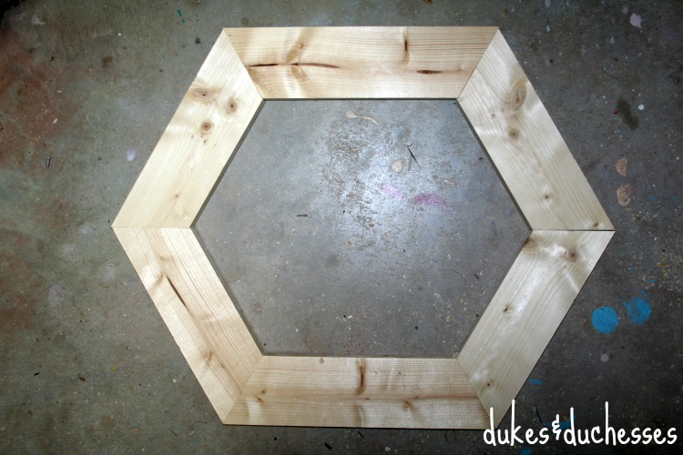 hexagon pumpkin frame