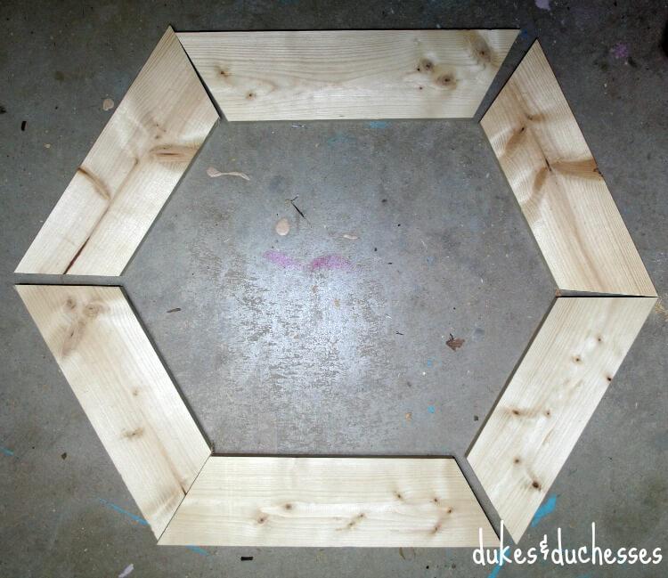 hexagon wood shape