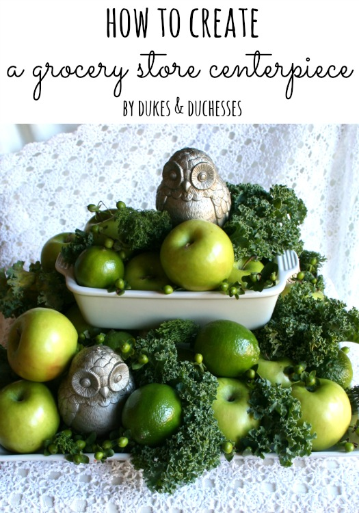 how to create a grocery store centerpiece