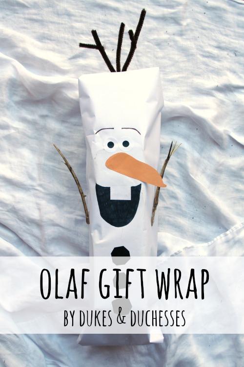olaf gift wrap