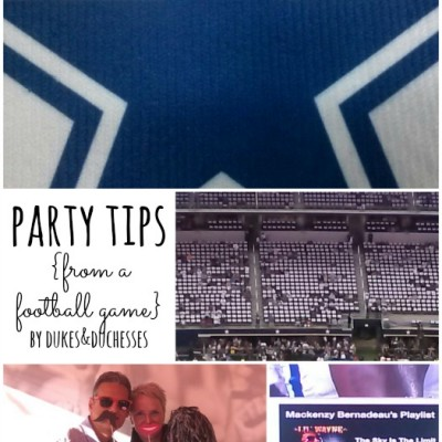 Party Tips {from a Football Game} and a DeMarco Murray Giveaway