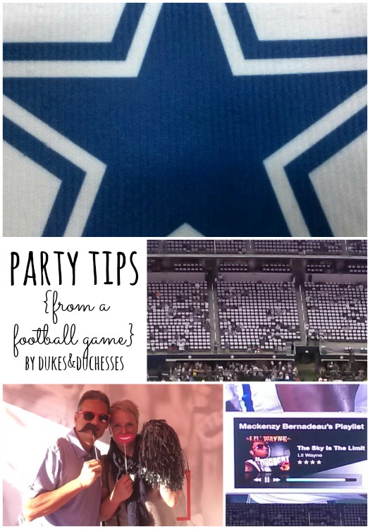 party tips from a football game