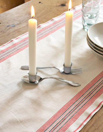 silverware candles