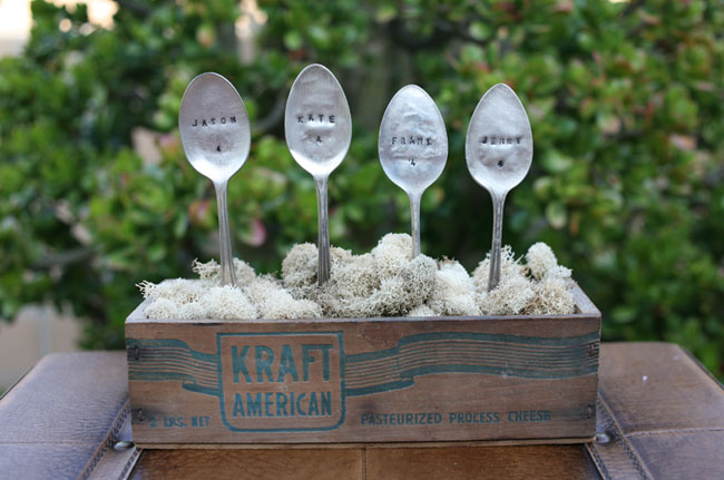 silverware table markers