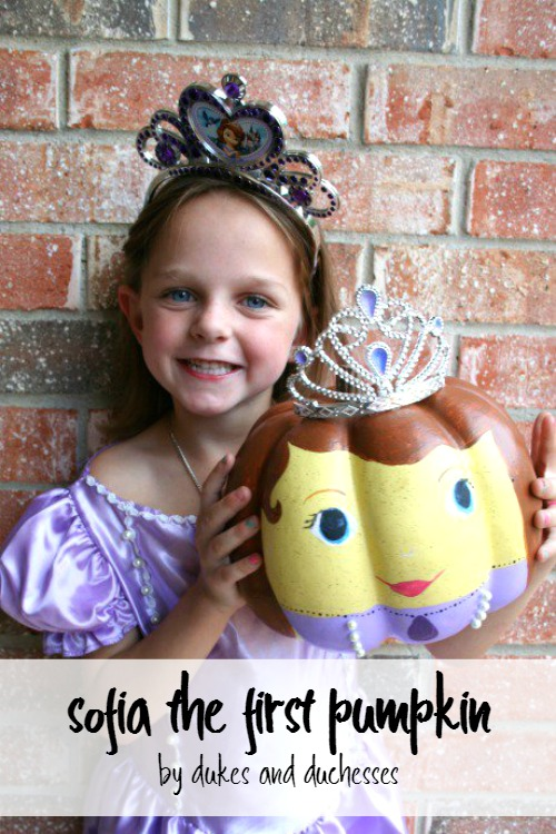 sofia the first pumpkin