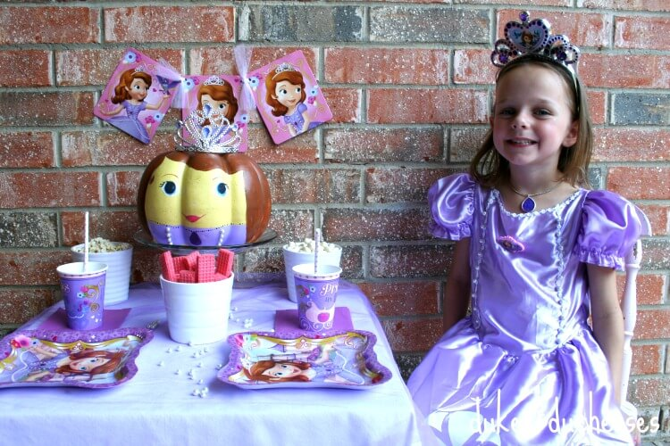 sophia costume and tablescape