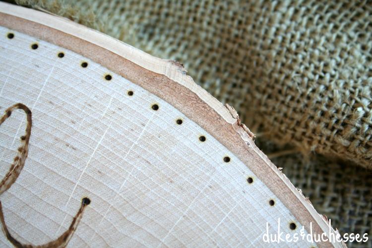 wood burned details