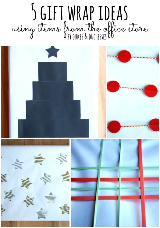 gift wrap ideas using office supplies