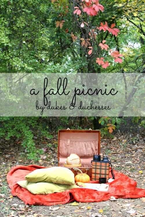 a fall picnic with market street