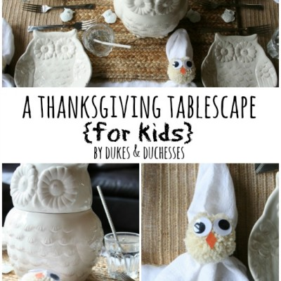 A Thanksgiving Tablescape for Kids