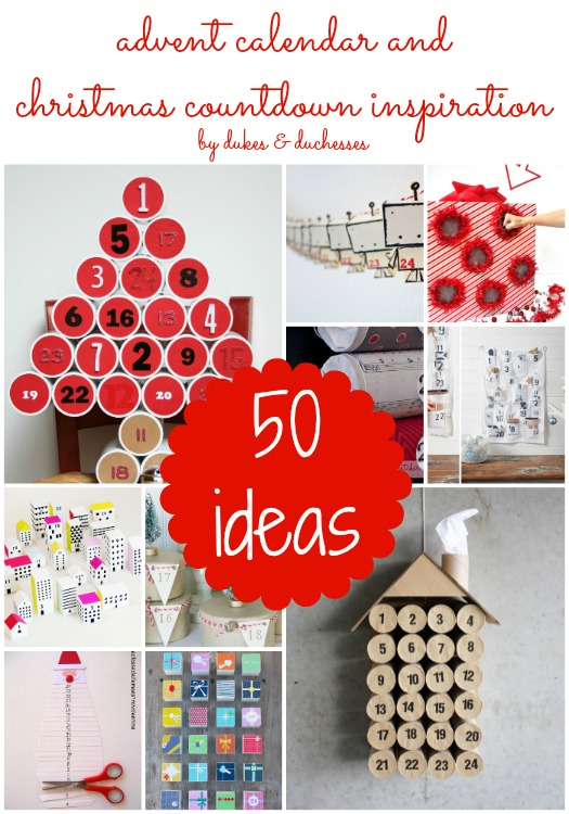 advent calendar and Christmas countdown ideas