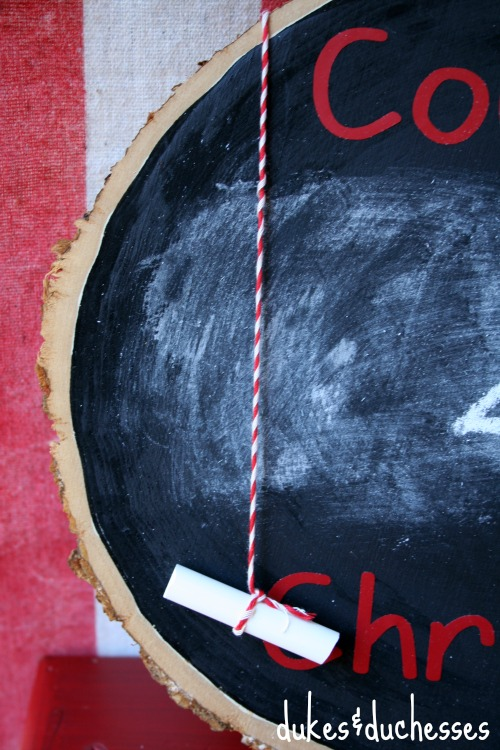 chalk on christmas countdown
