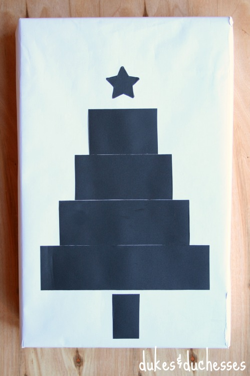 chalkboard tape christmas tree