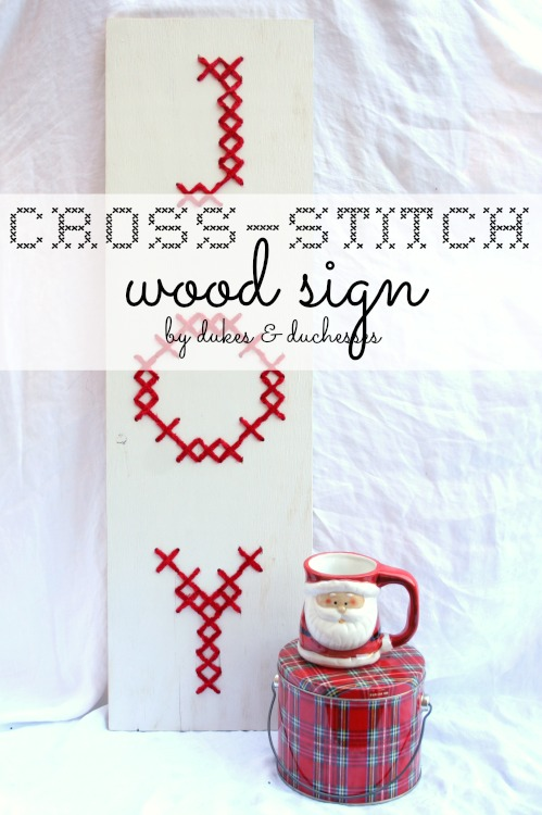 cross stitch wood sign