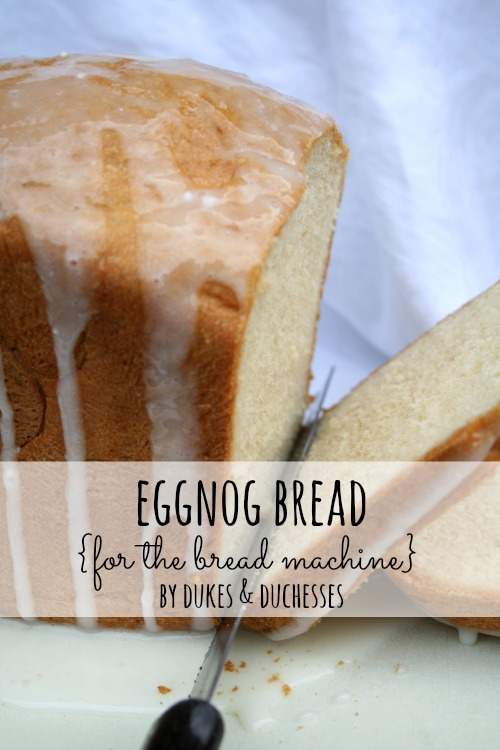 To make eggnog bread, you'll need 1 1/8 cup non-alcoholic eggnog, 3 ...