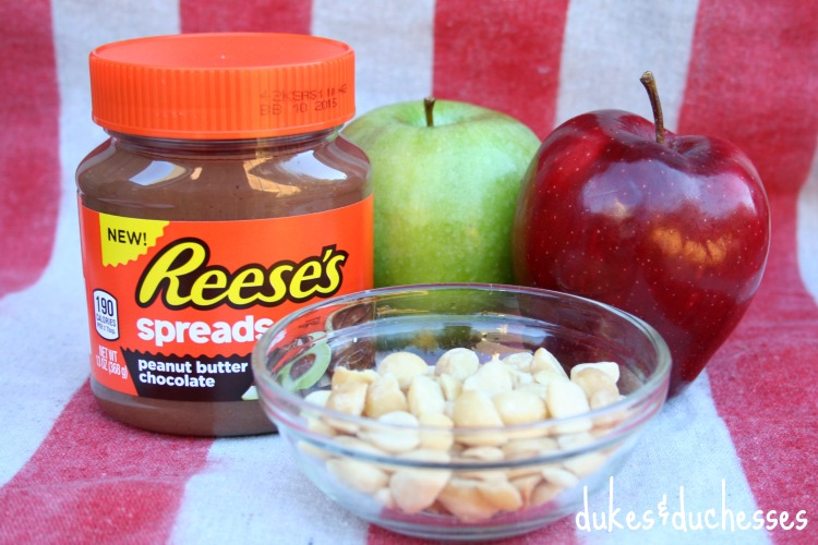 ingredients for reese's apple nachos
