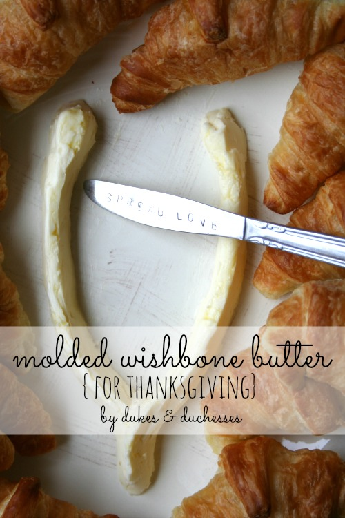 molded wishbone butter for Thanksgiving