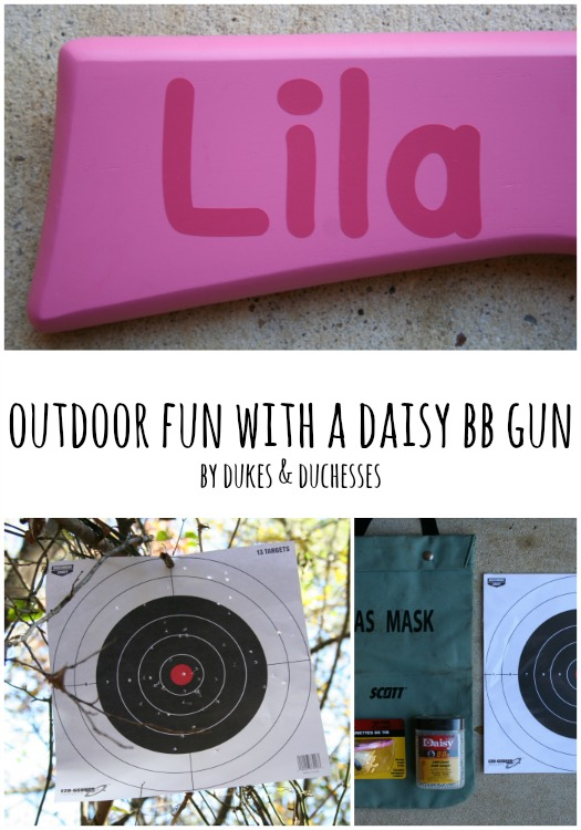 outdoor fun with a daisy bb gun