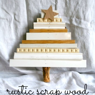 Rustic Scrap Wood Christmas Tree
