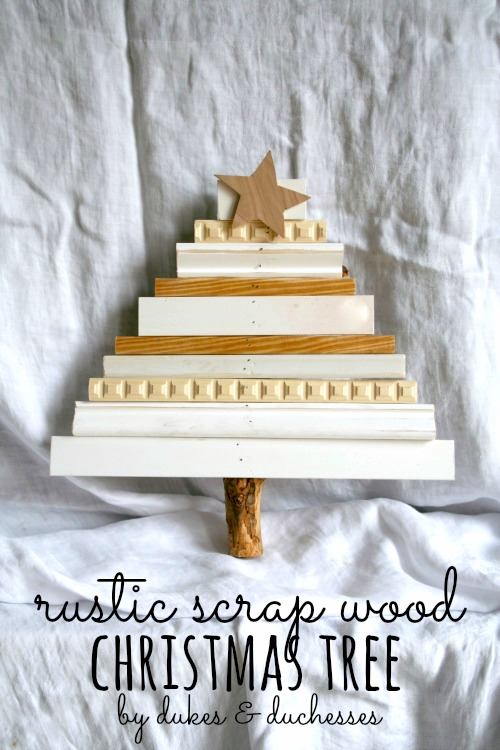 rustic scrap wood Christmas tree
