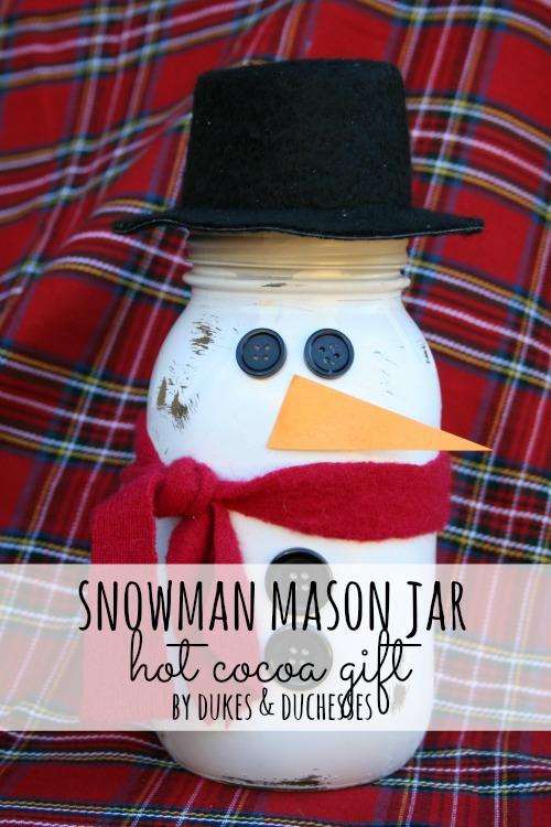 snowman mason jar hot cocoa gift d