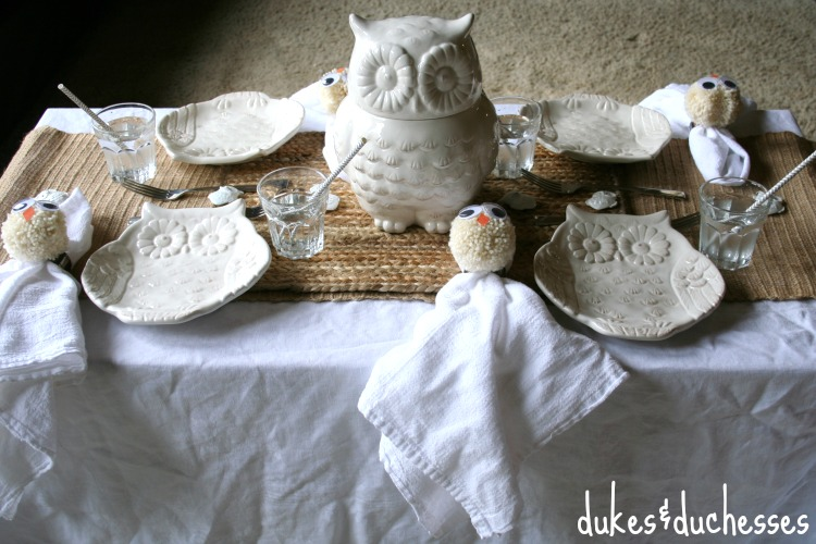 tablescape for kids